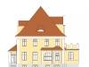 Wizualizacja elewacji frontowej budynku