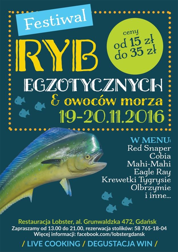 Festiwal Ryb Egzotycznych i Owoców Morza Plakat