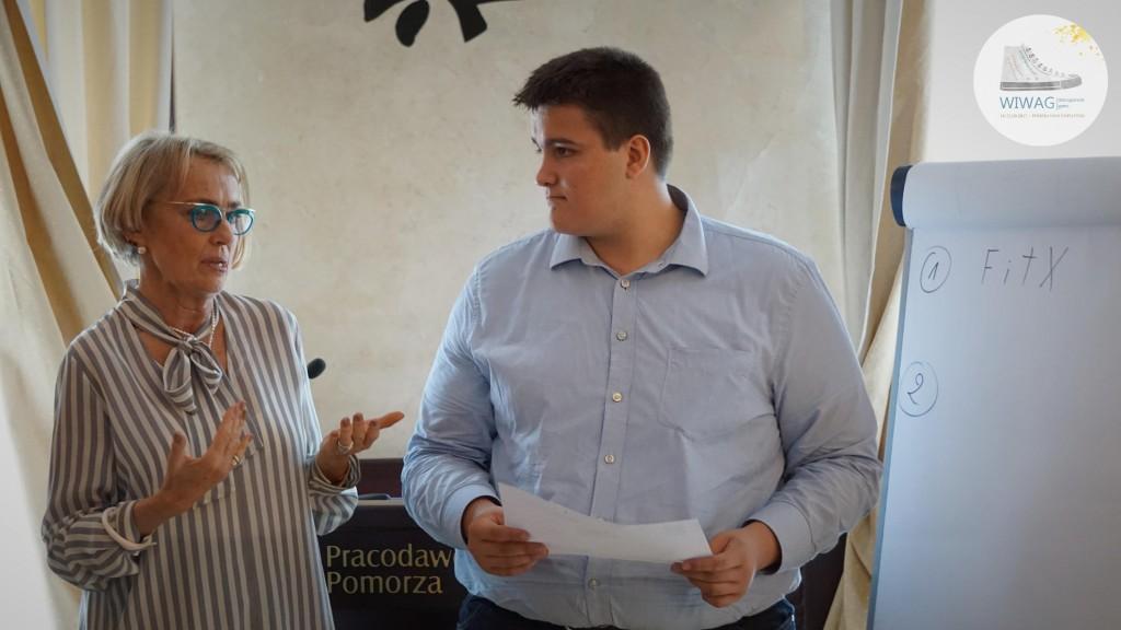 Dzień drugi WIWAG (19.09). Ewa Bonk-Woźniakiewicz z uczniem z Lubeki.