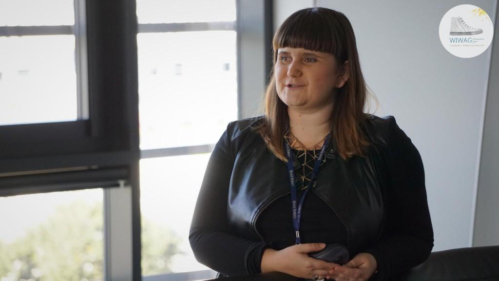 Dzień trzeci WIWAG (20.09). Anna Szabowska-Walaszczyk, University Relations Specialist ze State Street Gdańsk.