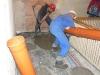 Wylewki betonowe posadzek w budynku odbyły się w ciągu jednego wieczoru