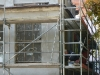 Elewacja budynku po renowacji przed malowaniem